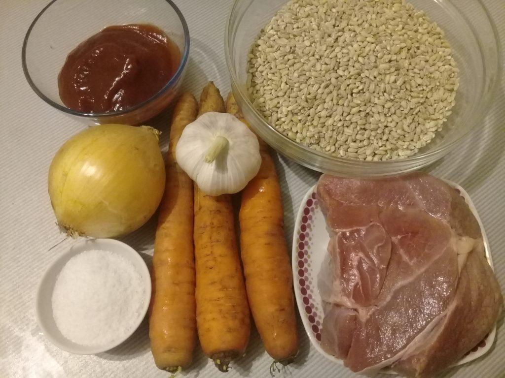 Фото рецепта - Плов из перловки и говядины - шаг 1
