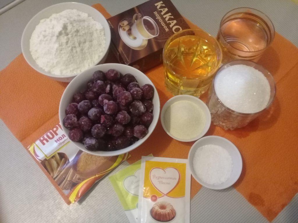 Фото рецепта - Заливной постный вишневый пирог - шаг 1