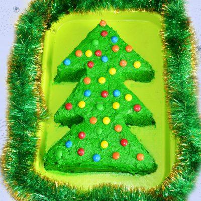 """Бисквитный торт """"Новогодняя ёлка"""" - рецепт с фото"""