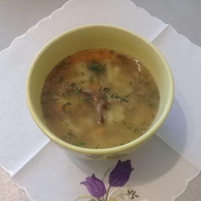 Фото рецепта - Суп с консервированным горошком с говядиной - шаг 9