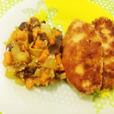 Рисовые биточки (котлеты) с овощами - рецепт с фото