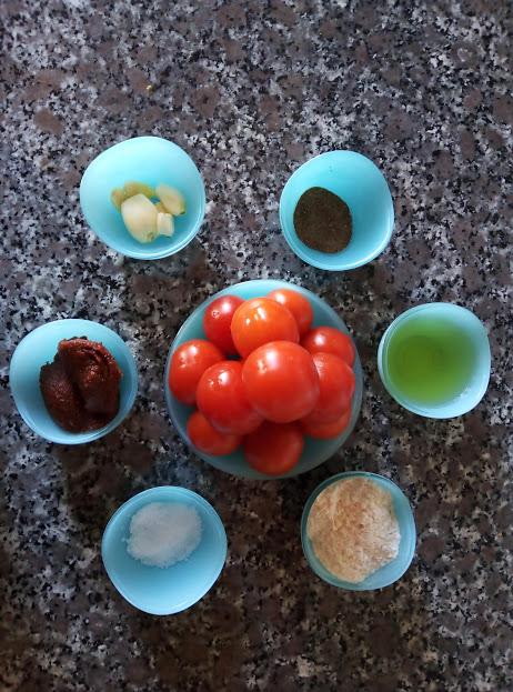 Фото рецепта - Турецкий томатный суп с сыром - шаг 1