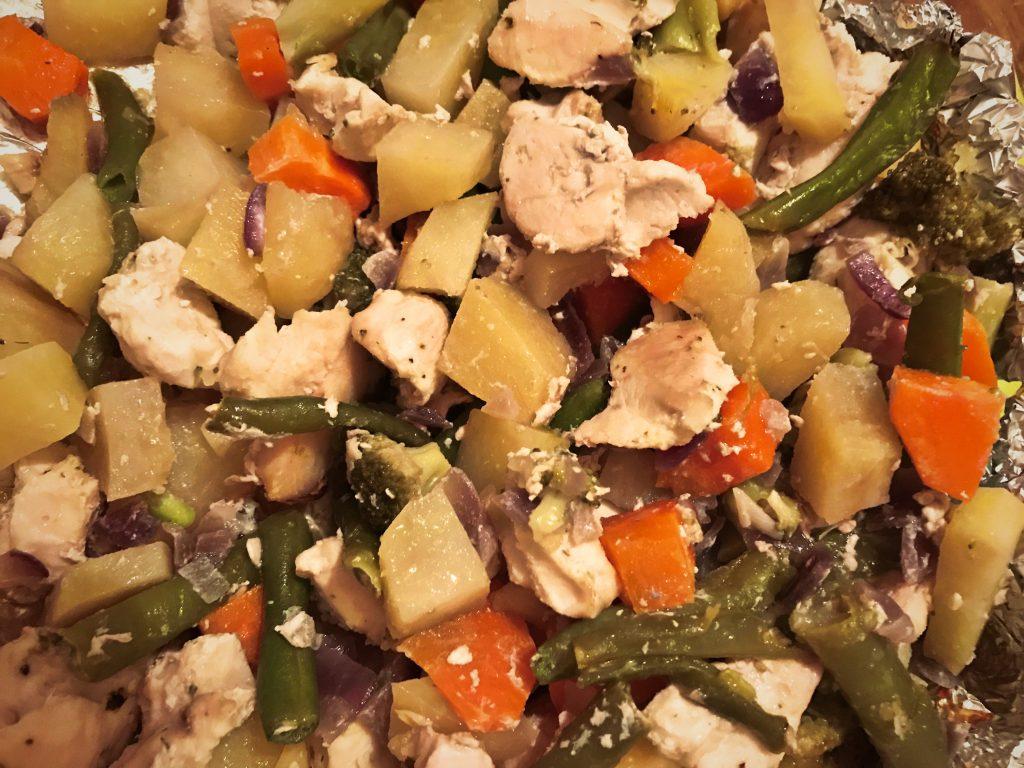 Фото рецепта - Овощное рагу с курицей в духовке - шаг 6