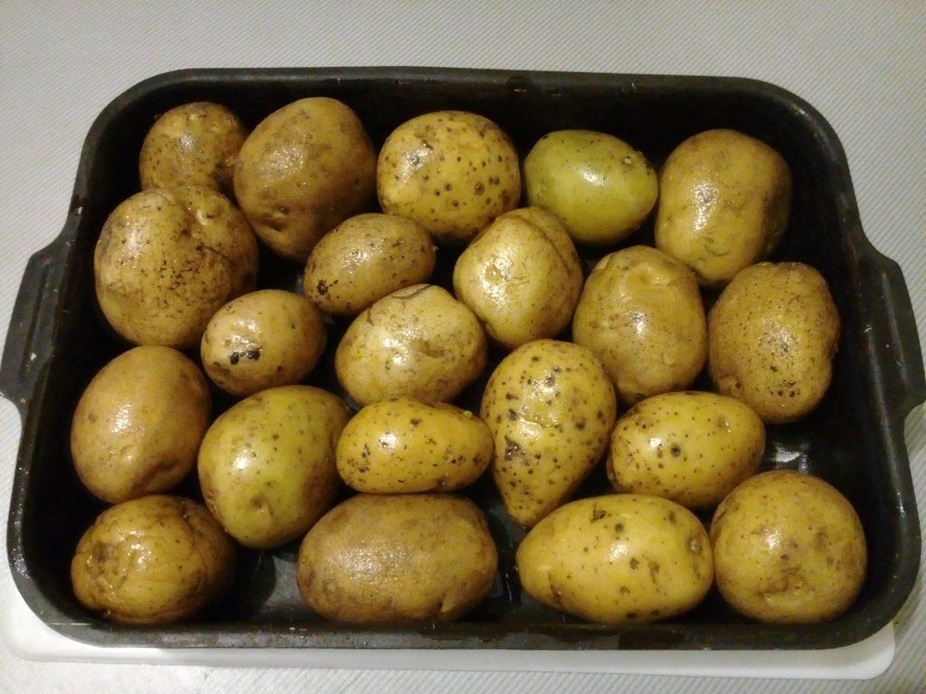 Фото рецепта - Печеный картофель на гарнир - шаг 2