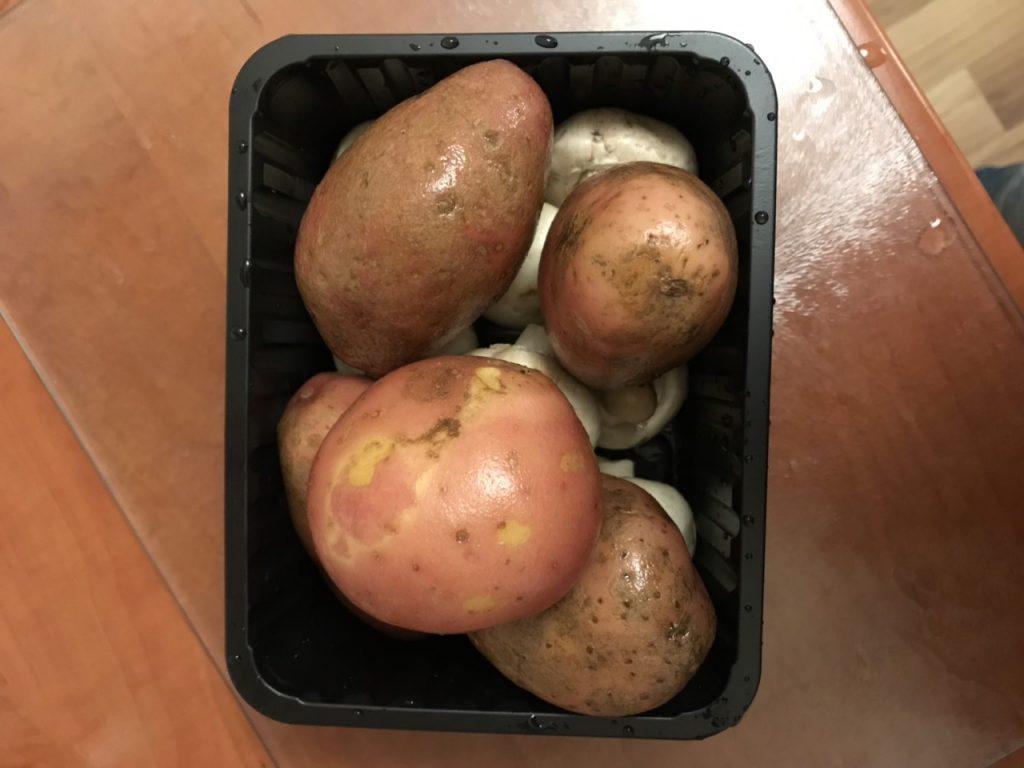 Фото рецепта - Картошка в мундире и грибы, запеченные в травах - шаг 1