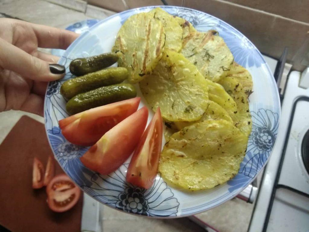 Фото рецепта - Гарнир – картофель на гриле - шаг 5