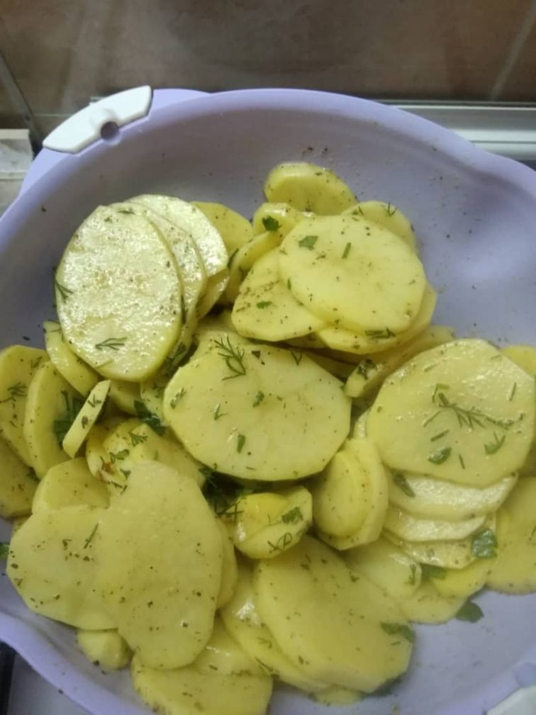 Фото рецепта - Гарнир – картофель на гриле - шаг 2