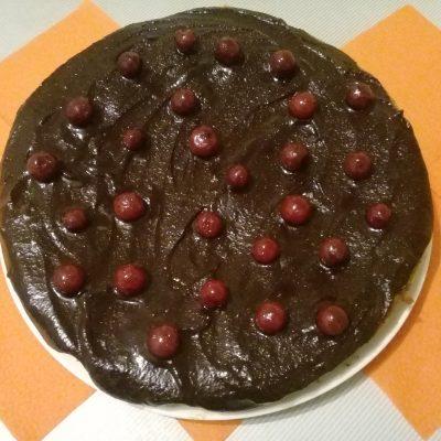 Фото рецепта - Заливной постный вишневый пирог - шаг 9