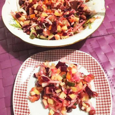 Винегрет с фасолью и квашеной капустой - рецепт с фото