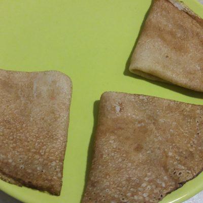 Фото рецепта - Тонкие блинчики с фаршем индейки - шаг 3