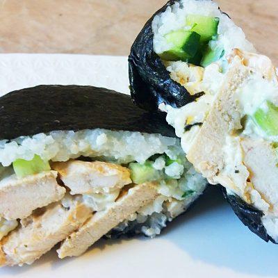 Онигирадзу – суши-сэндвич с курицей - рецепт с фото