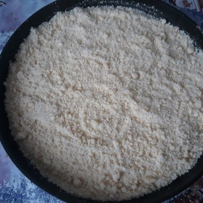 Фото рецепта - Насыпной пирог с творогом - шаг 3
