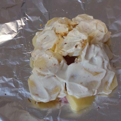 Фото рецепта - Филе индейки с картофелем, в фольге - шаг 3