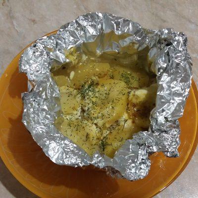 Фото рецепта - Филе индейки с картофелем, в фольге - шаг 4