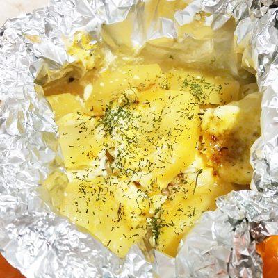 Филе индейки с картофелем, в фольге - рецепт с фото