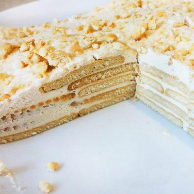 """Торт """"Наполеон"""" из печенья с творогом - рецепт с фото"""