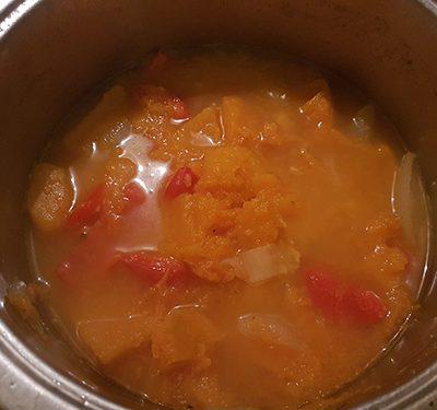 Фото рецепта - Тыквенный сур-пюре с курицей - шаг 8