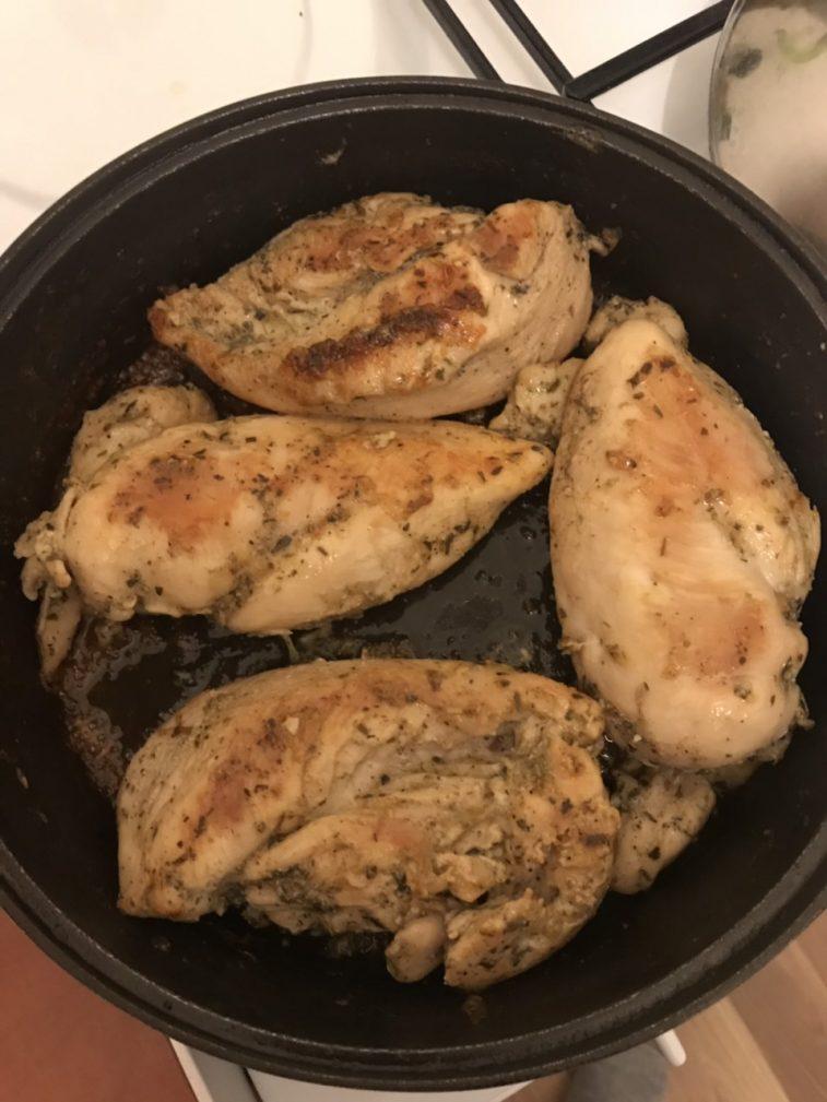 Фото рецепта - Стейки из куриной грудки - шаг 4
