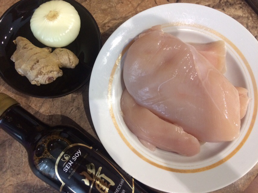 Фото рецепта - Курица кусочками по-азиатски на сковороде - шаг 1