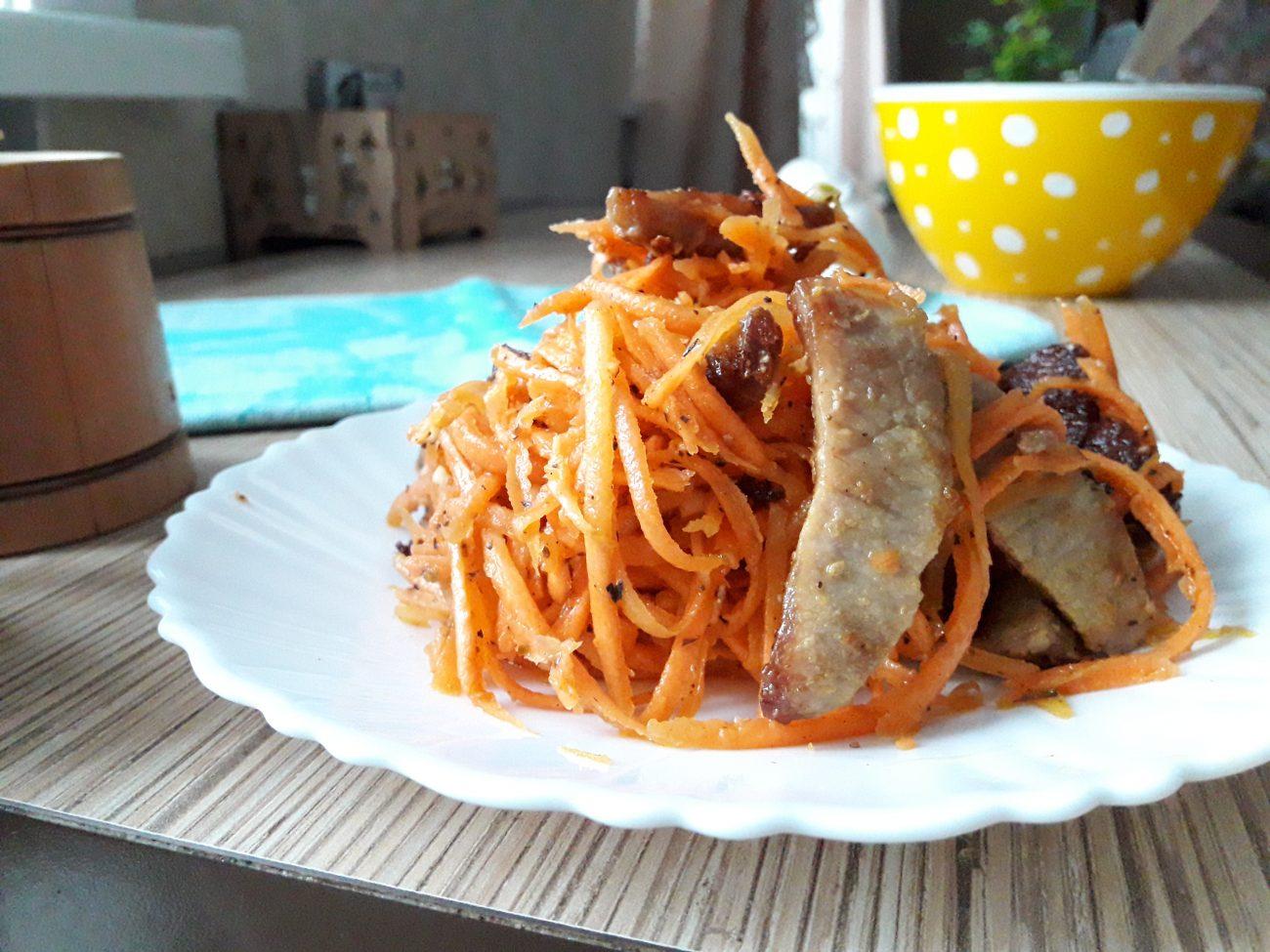 "Салат ""Морковь по-корейски"" с мясом"