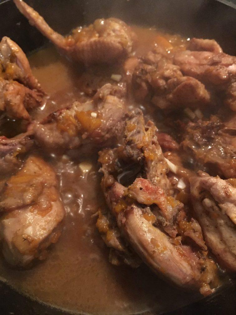 Фото рецепта - Курица с тыквой в тажине - шаг 9