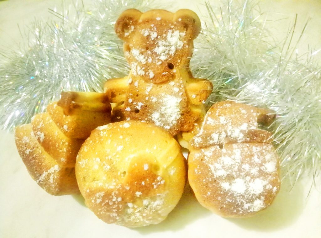 Фото рецепта - Ореховые новогодние кексики - шаг 7