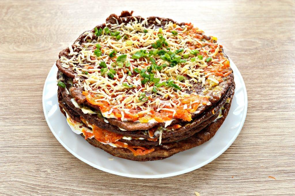Фото рецепта - Печеночный торт из печени - шаг 7