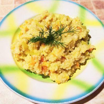 Каша пшенная с овощами - рецепт с фото