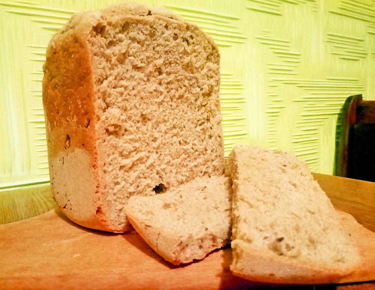 """Хлеб из дрожжевого теста """"Максимум пользы"""",  в хлебопечке"""