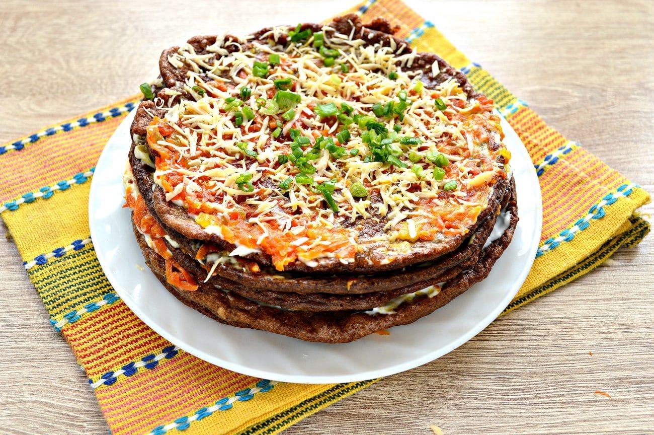 Печеночный торт из печени