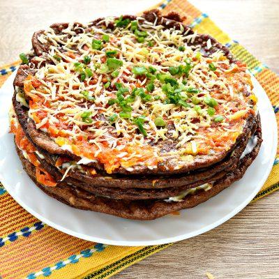 Печеночный торт из печени - рецепт с фото