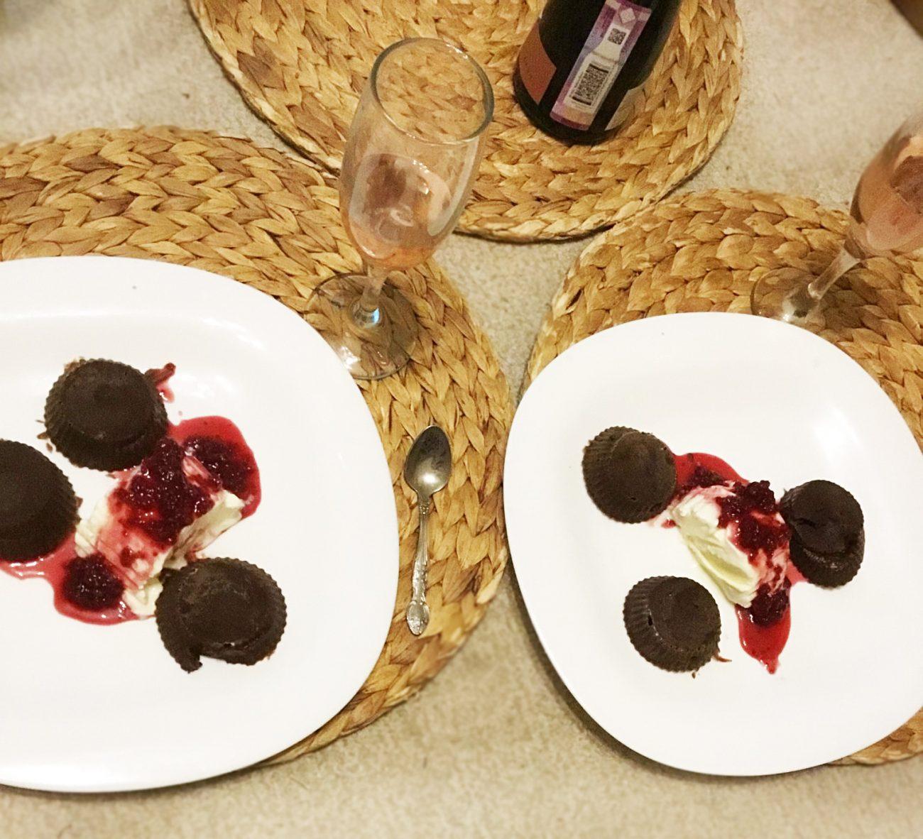 Шоколадные фонданы (кексы)