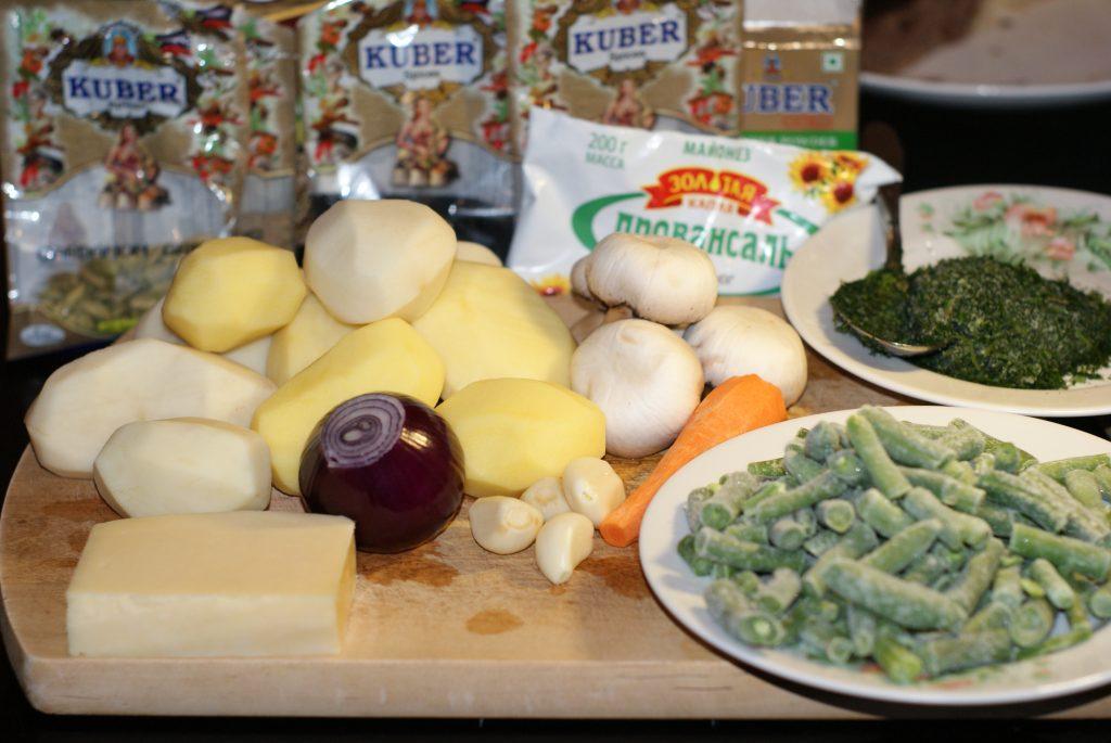 Фото рецепта - Картофель запеченный с фасолью и грибами - шаг 1