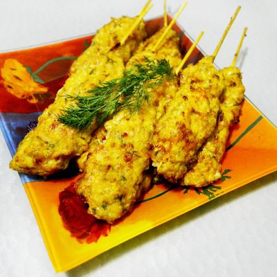 Куриный люля-кебаб в духовке - рецепт с фото