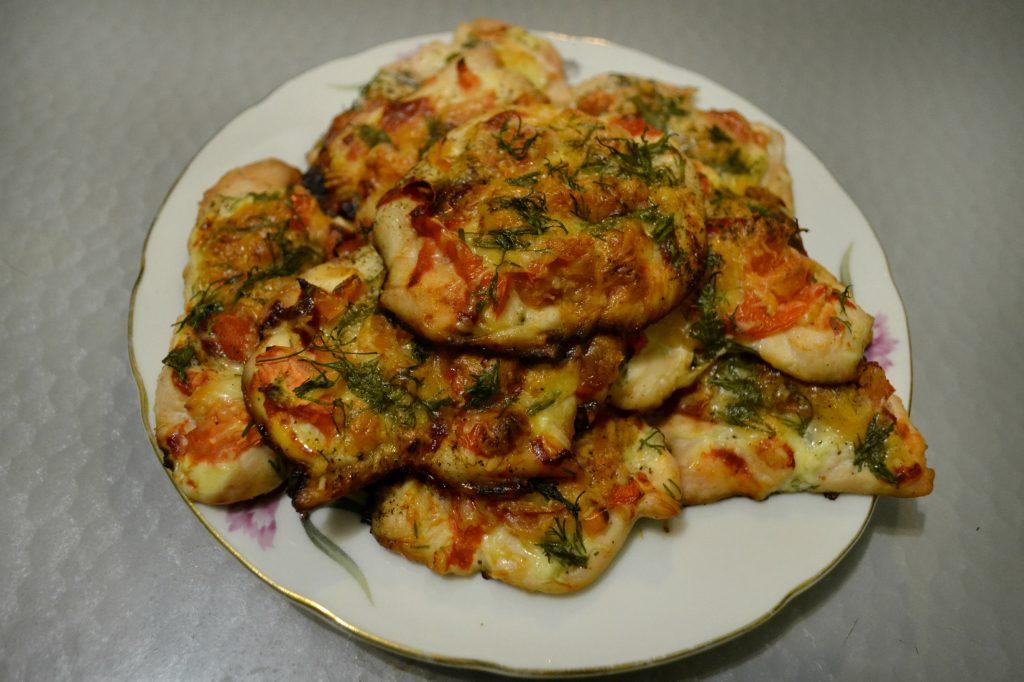 Фото рецепта - Запеченные куриные отбивные под сыром - шаг 5
