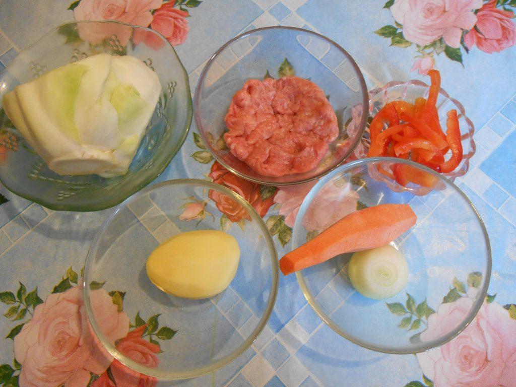 """Фото рецепта - Щи с фрикадельками из индейки """" Вкус детства """" - шаг 1"""