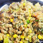 Рагу из кабачков, томатов с фаршем и грибами