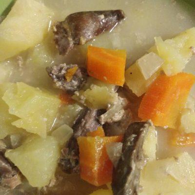 Фото рецепта - Запеченая картошка с сердечками в молоке - шаг 4