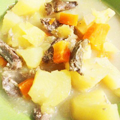 Запеченая картошка с сердечками в молоке - рецепт с фото