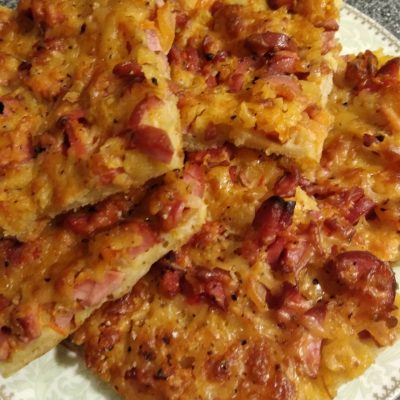 Пицца на сковороде за 15 минут - рецепт пошаговый с фото