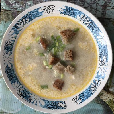 Сырный суп с семгой - рецепт с фото