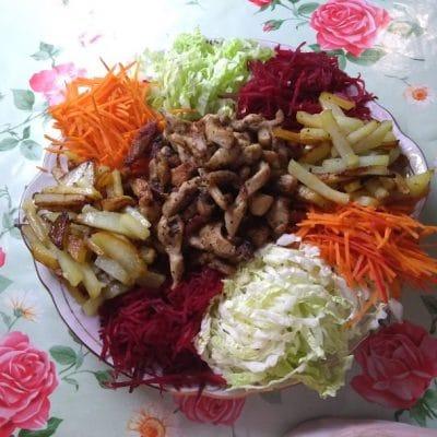 """Фото рецепта - Овощной салат со свининой """"Чафан"""" - шаг 3"""