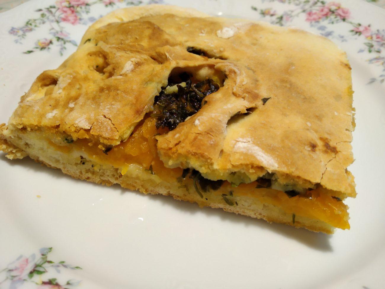 Аджарский пирог с тыквой и кинзой