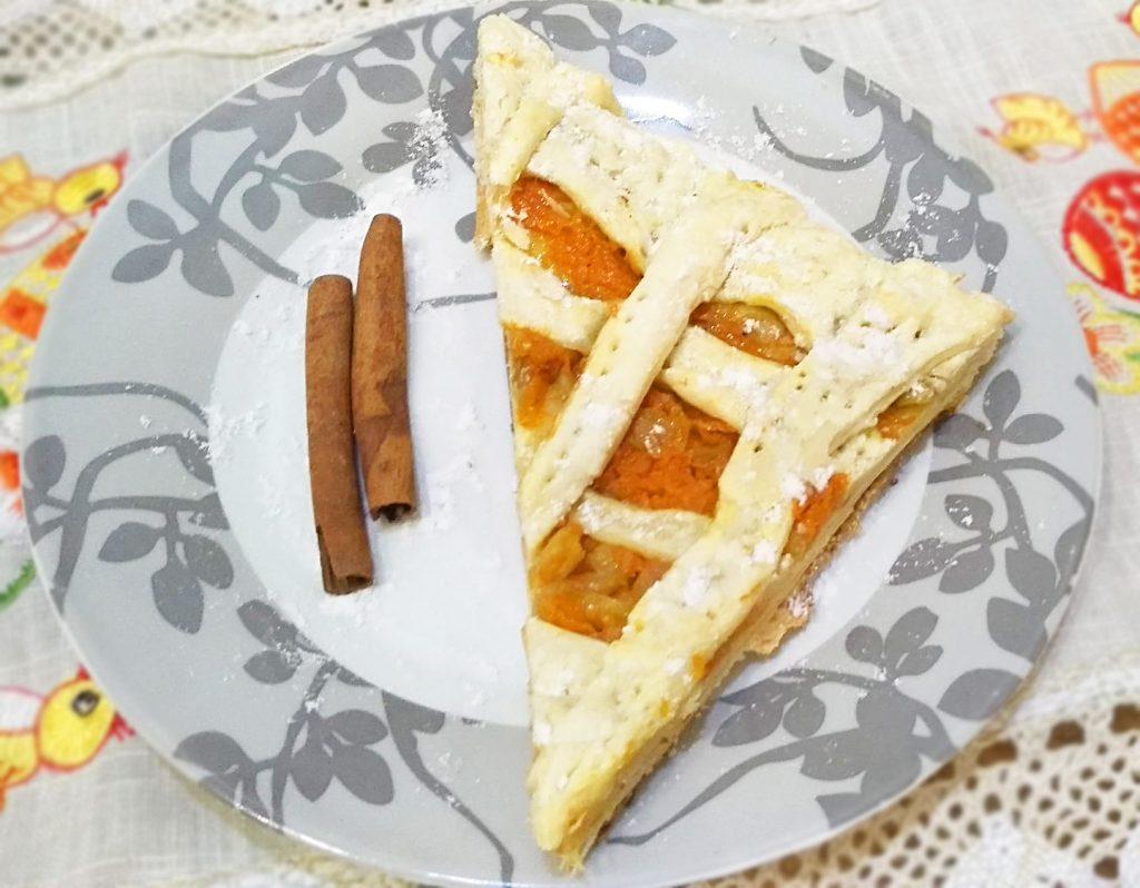 Фото рецепта - Быстрый пирог с яблоком и тыквой из слоеного теста - шаг 6