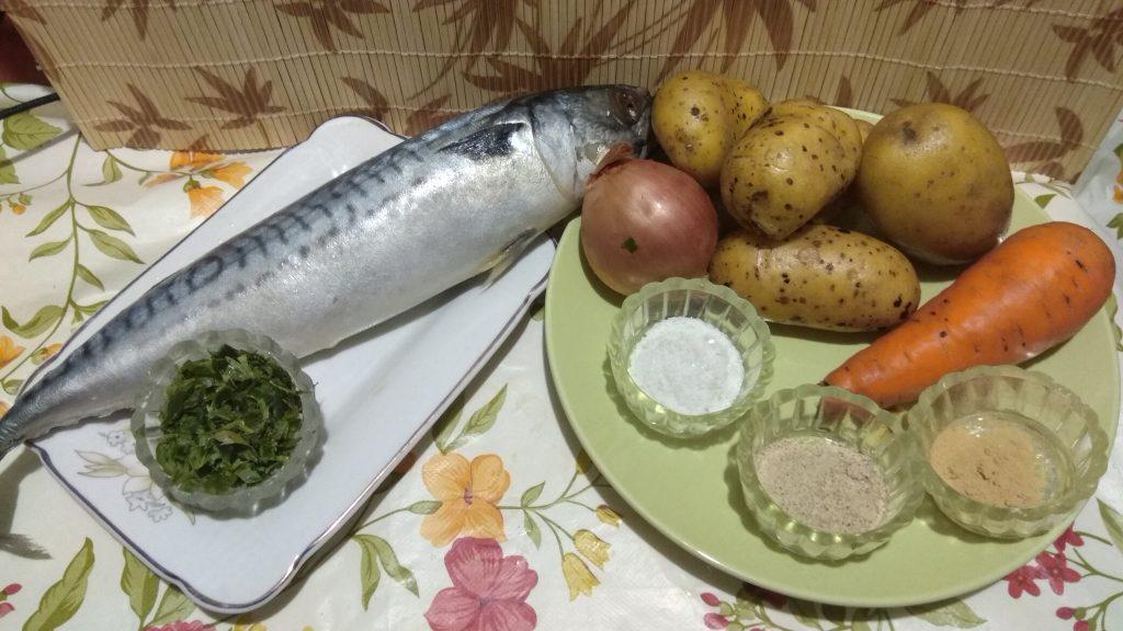 Фото рецепта - Скумбрия с имбирем на овощной подушке, в фольге - шаг 1