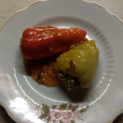 Фото рецепта - Перец фаршированный пшеном и шпротами - шаг 6