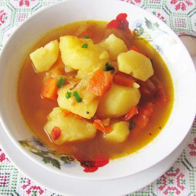 Картофель по-индийски (тушеный) - рецепт с фото