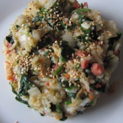 Фото рецепта - Острый рис по-корейски с кимчи и шпинатом (поккымпаб) - шаг 5