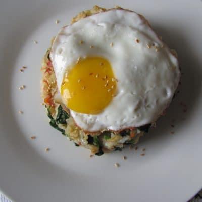 Фото рецепта - Острый рис по-корейски с кимчи и шпинатом (поккымпаб) - шаг 6
