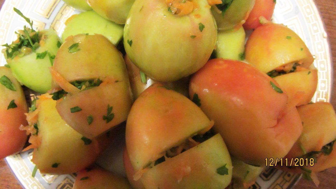 Фаршированные соленые помидоры на зиму